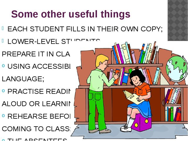 Some other useful things EACH STUDENT FILLS IN THEIR OWN COPY; LOWER-LEVEL ST...