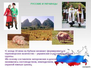 РУССКИЕ И УКРАИНЦЫ С конца 18 века на Кубани начинает формироваться черноморс