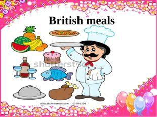 British meals