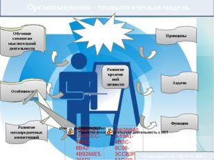 Организационно - технологическая модель Развитие креатив ной личности Информ
