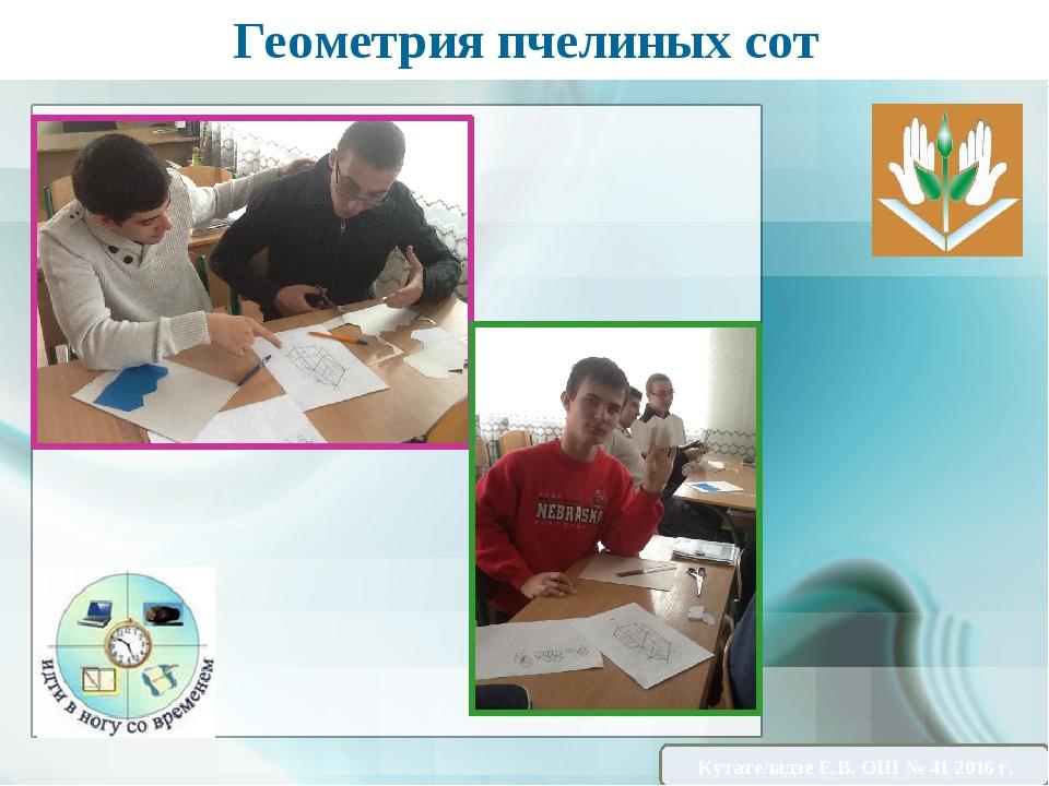 Геометрия пчелиных сот Кутателадзе Е.В. ОШ № 41 2016 г.