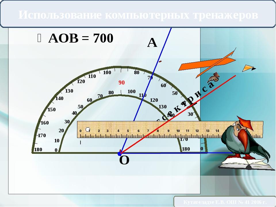 А В О Б и с с е к т р и с а Использование компьютерных тренажеров Кутателадз...