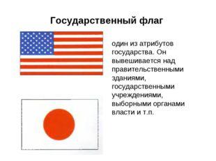 Государственный флаг один из атрибутов государства. Он вывешивается над прави