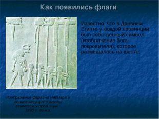 Как появились флаги Известно, что в Древнем Египте у каждой провинции был соб