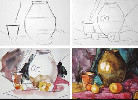 Презентация рисуем натюрморт акварелью поэтапно 2 класс