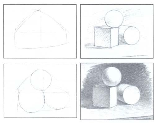 Рисунок фигур карандашом для начинающих