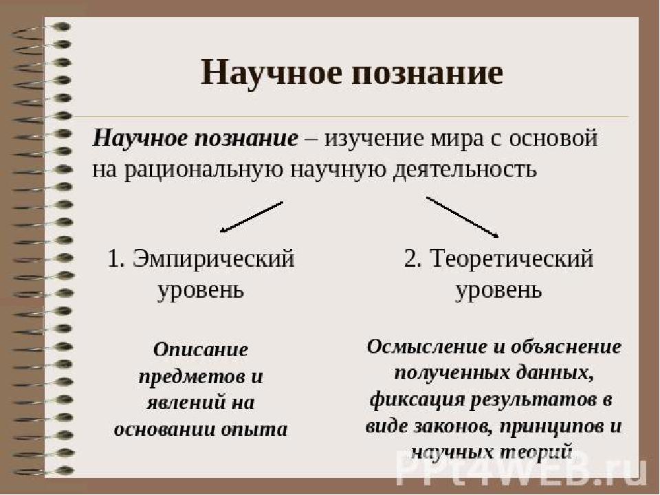 эмпирический и научный таблица