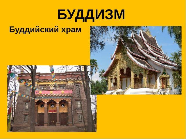 БУДДИЗМ Буддийский храм