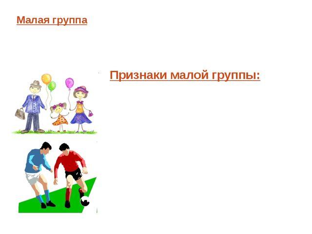Малая группа – немногочисленное по составу объединение людей, члены которого...