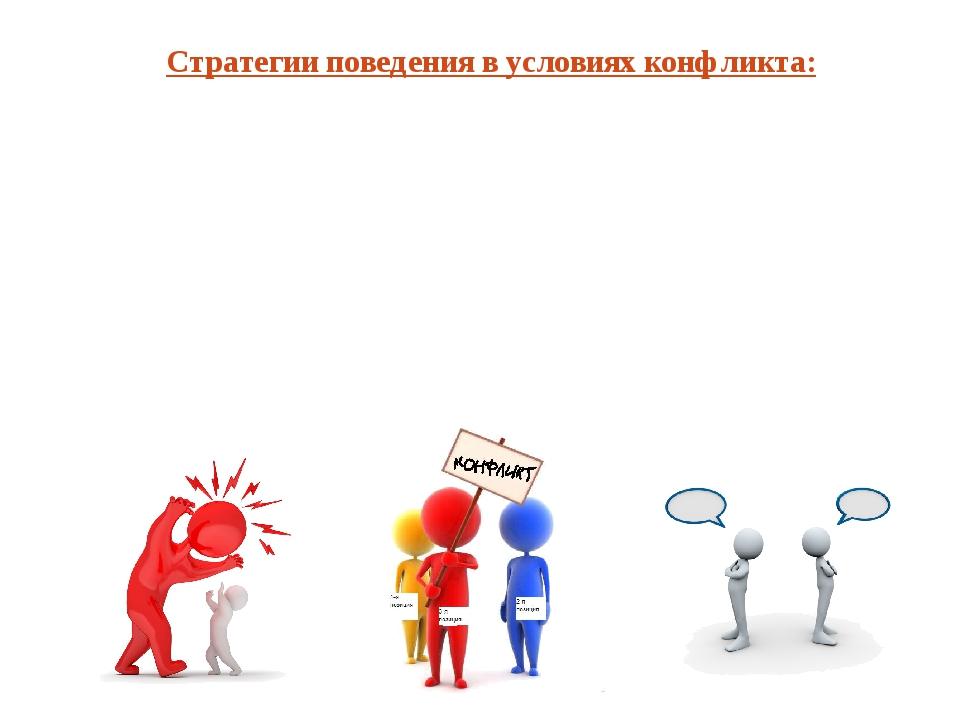 Стратегии поведения в условиях конфликта: Избегание – стремление выйти из кон...
