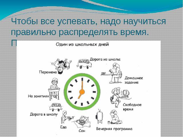 Чтобы все успевать, надо научиться правильно распределять время. Поможет в эт...