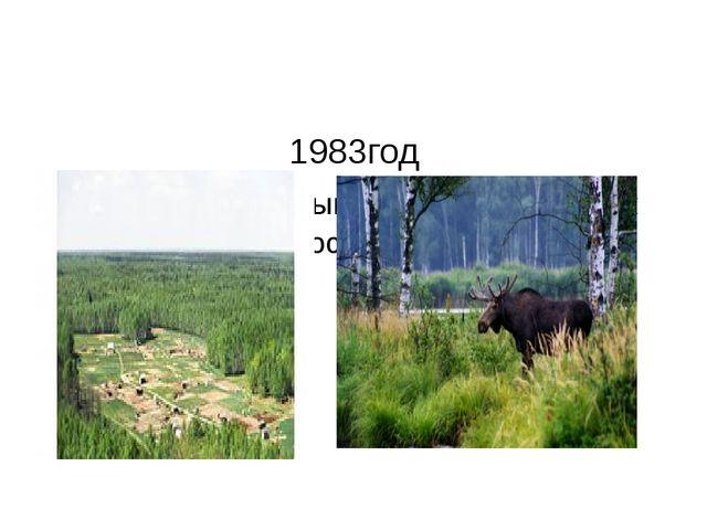 1983год Образован первый национальный парк России «Лосиный остров».