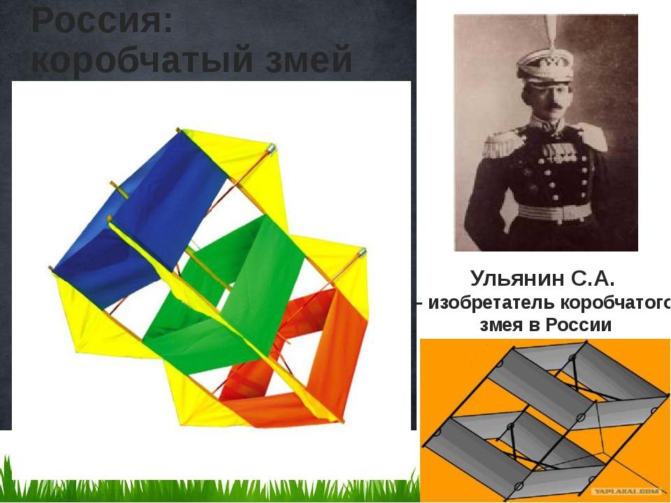 Россия: коробчатый змей Ульянин С.А. – изобретатель коробчатого змея в России