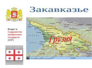 Входит в Содружество независимых государств (СНГ)