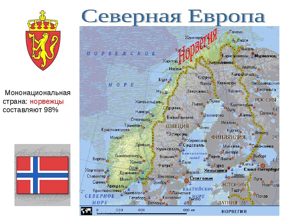 Мононациональная страна: норвежцы составляют 98%