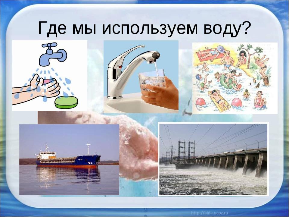 Где мы используем воду?