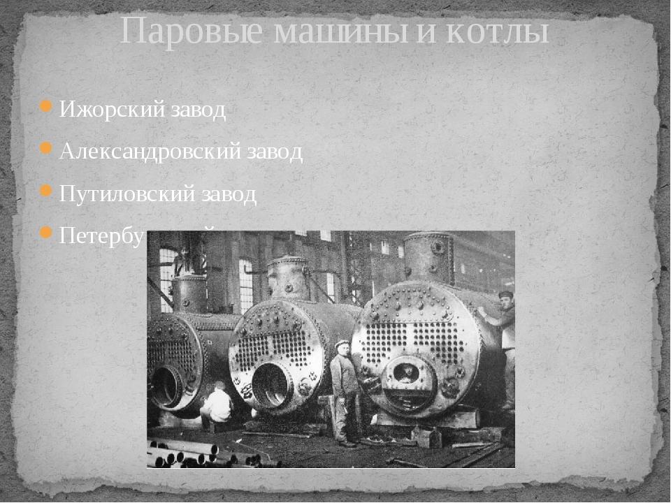 Ижорский завод Александровский завод Путиловский завод Петербургский завод Па...