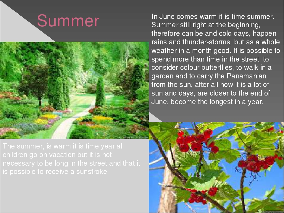 Summer In June comes warm it is time summer. Summer still right at the begin...