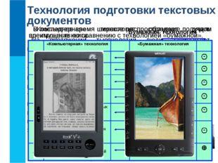 Технология подготовки текстовых документов На протяжении тысячелетий люди зап