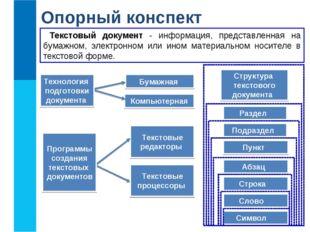 Бумажная Компьютерная Раздел Подраздел Пункт Абзац Строка Текстовые редакторы