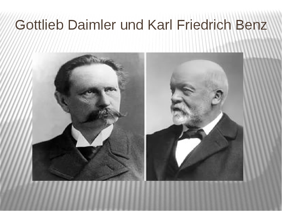 Gottlieb Daimler und Karl Friedrich Benz