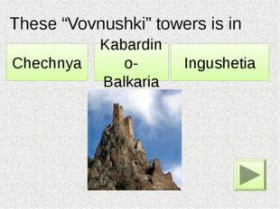 """These """"Vovnushki"""" towers is in … . Kabardino-Balkaria Chechnya Ingushetia"""