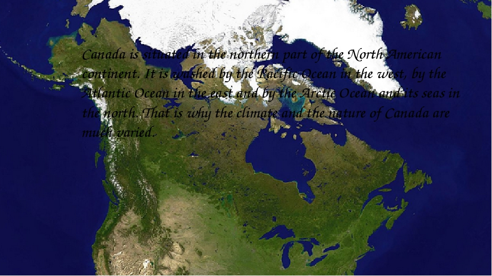 Canada is situated in the northern part of the North American continent. It...
