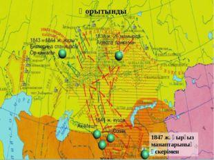 1847 ж. қырғыз манаптарының әскерімен Қорытынды