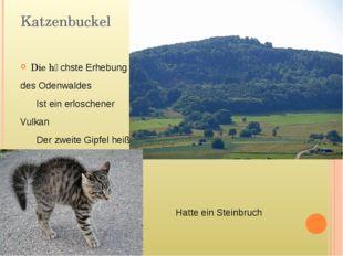 Katzenbuckel Die hӧchste Erhebung des Odenwaldes Ist ein erloschener Vulkan D