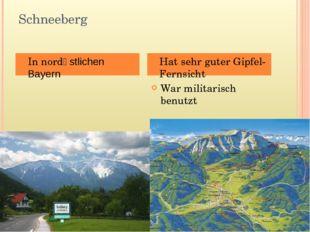 Schneeberg War militarisch benutzt In nordӧstlichen Bayern Hat sehr guter Gip