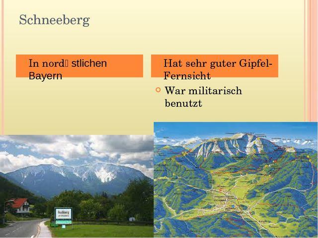 Schneeberg War militarisch benutzt In nordӧstlichen Bayern Hat sehr guter Gip...