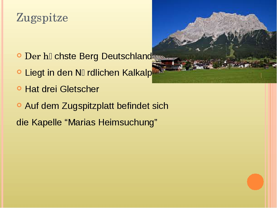 Zugspitze Der hӧchste Berg Deutschlands Liegt in den Nӧrdlichen Kalkalpen Hat...