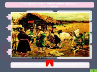 Основные этапы закрепощения крестьян в 16-17 веках 1581 Указ Иоанна IV Грозн