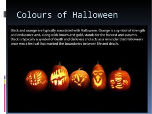 Colours of Halloween