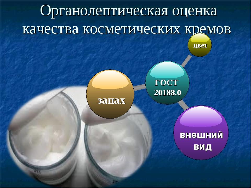 Органолептическая оценка качества косметических кремов