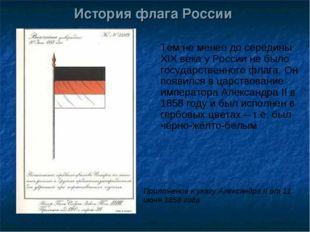 История флага России Тем не менее до середины XIX века у России не было госуд