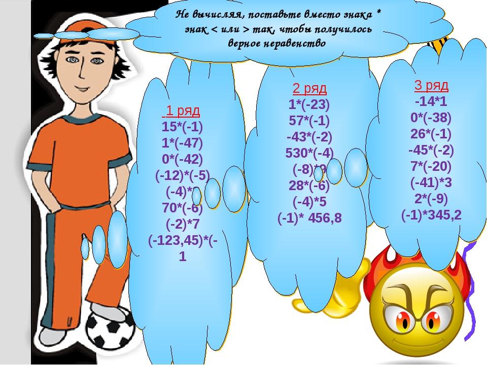 1 ряд 15*(-1) 1*(-47) 0*(-42) (-12)*(-5) (-4)*3 70*(-6) (-2)*7 (-123,45)*(-1...