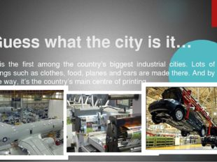 Guess what the city is it… It is the first among the country's biggest indus