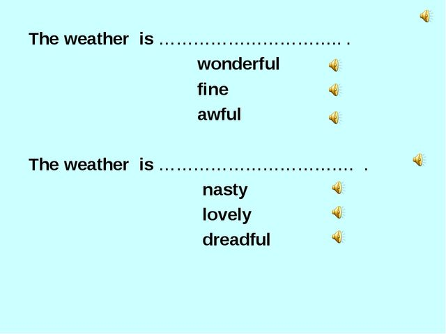 The weather  is ………………………….. .                                         wonde...
