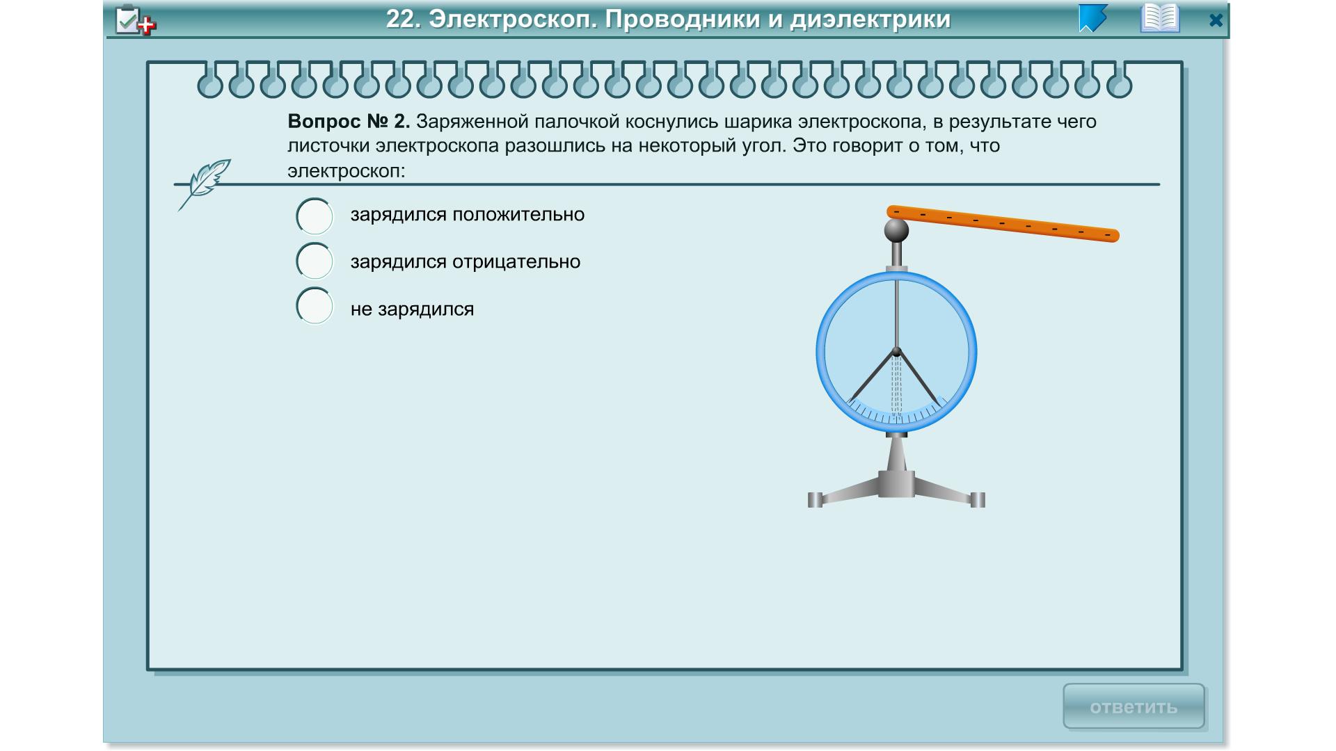 рисунком устройство электроскопа с