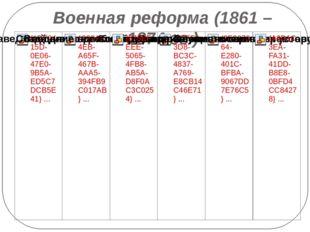 Военная реформа (1861 – 1874 гг.)