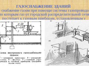 ГАЗОСНАБЖЕНИЕ ЗДАНИЙ — снабжение газом при помощи системы газопроводов, по к