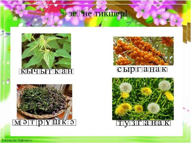 Үзеңне тикшер! FokinaLida.75@mail.ru