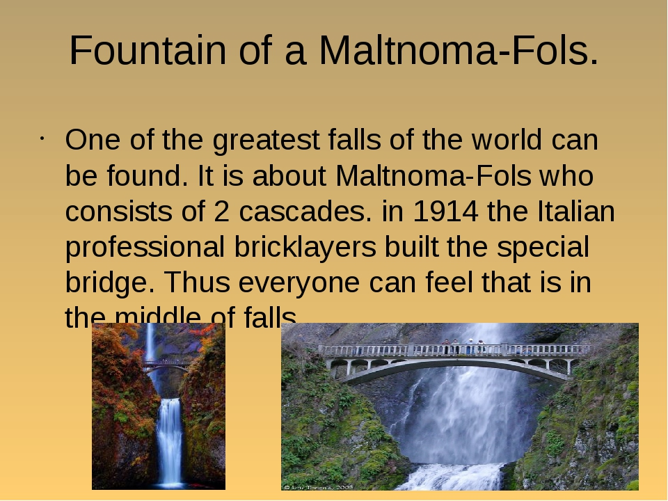 Fountain of a Maltnoma-Fols. One of the greatest falls of the world can be fo...