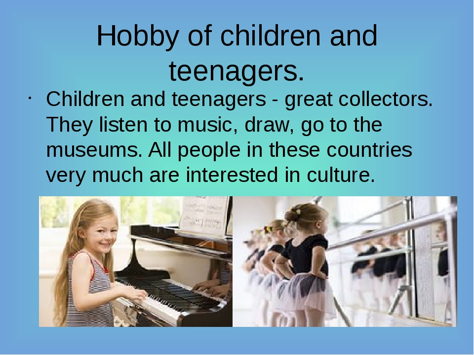 Hobby of children and teenagers. Children and teenagers - great collectors. T...