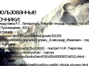 Использованные источники: Ахмадуллина Р.Г. Литература. Рабочая тетрадь. 6 кла
