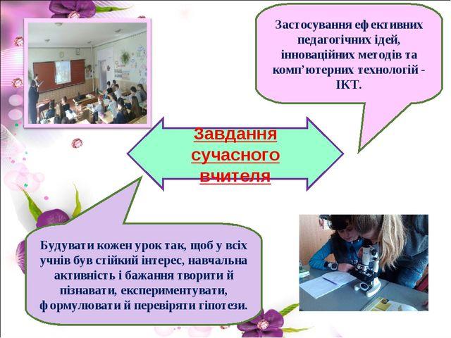Завдання сучасного вчителя Будувати кожен урок так, щоб у всіх учнів був стій...