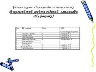 Участниками Олимпиады по математике (Всероссийский уровень заданий олимпиады