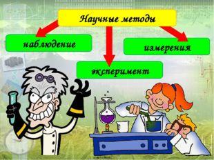 наблюдение эксперимент измерения Научные методы