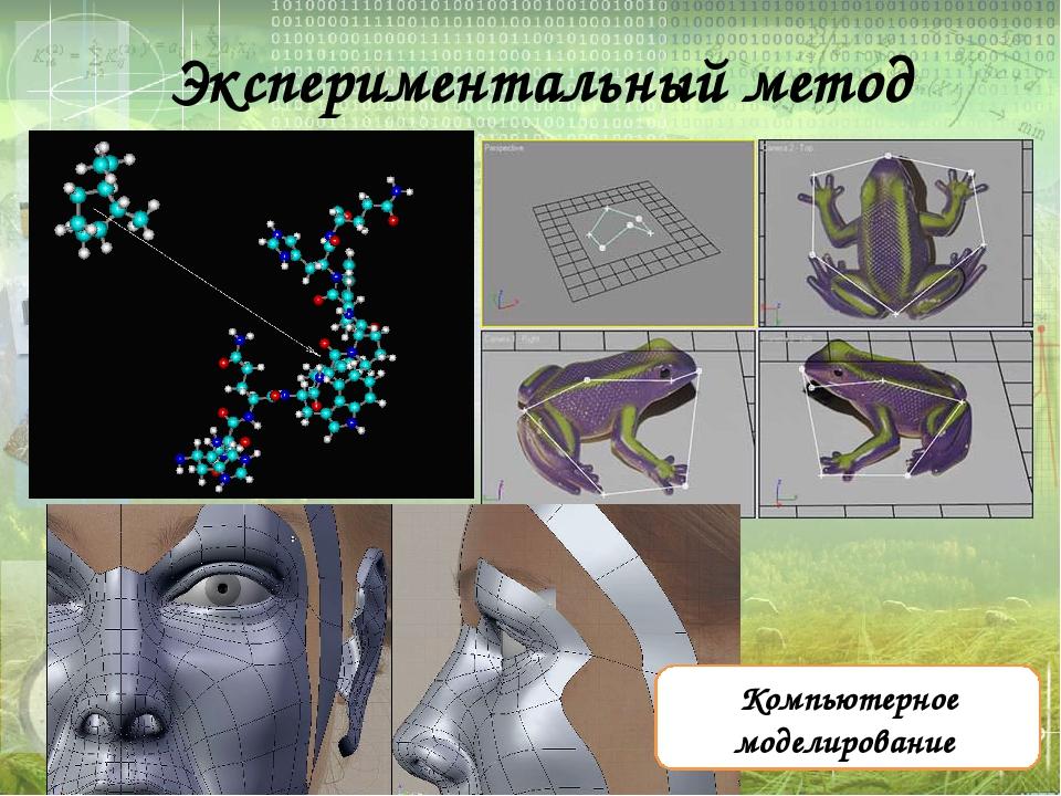 Экспериментальный метод Компьютерное моделирование